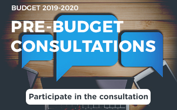 Participate in the Pre-budget consultations 2019-2020